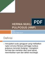 Hernia Nukleus Pulposus (HNP)