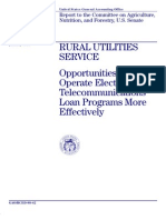 GAO Report - Rural Utilities Service Opportunities for More Effective Loan Programs January 1998