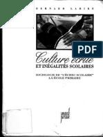Livre - Presses Universitaires de Lyon 1993 Lahire Bernard