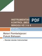 Instrumentasi Dan Kontrol (MS312) - Minggu Ke 03-04