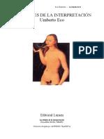 Eco Umberto - Los Limites de La Interpretacion
