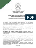 Normas Trabajo Investigacion Masteres a Consejo Gobierno 16-06-2008.p Df