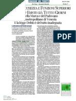 6 luglio 2014 - Corriere del Veneto - Luca Romano