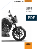 KTM DUKE 125 & 200 2012 Workshop Repair Manual