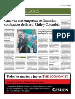 Cada Vez Más Empresas Se Financian Con Bancos de Brasil, Chile y Colombia_Gestión 7-07-2014