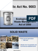Ecological Solid Waste Management Act of 2000