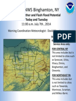 Nws Public Briefing on 07 07 2014 Storm