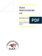 Acto Administrativo - Trabajo Final