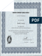 induction certificate