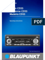 Blaupunkt Car Radio Manual CD33