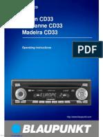 Blaupunkt Car Radio Manual CD33
