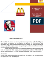 comparative study between mcdonalds and kfc Read this essay on research of kfc  by making a comparative study of mcdonald's and kfc,  background of kfc and mcdonalds mcdonalds is the world .