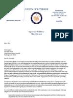 Letter to President Barack Obama from Riverside County Supervisor Jeff Stone