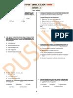 2014 KPSS - Tarih Denemesi I (Full)
