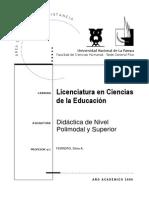 Didactica de n Polimodal y Superior 2009