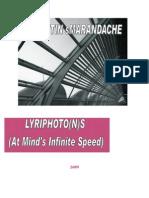Lyriphoto(n)s (At Mind's Infinite Speed), by Florentin Smarandache