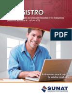 T-REGISTRO | Registro de nuevos datos de la Situación Educativa de los Trabajadores (Resolución Ministerial N.° 107-2014-TR)