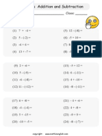 Integers Addition and Subtraction(II)