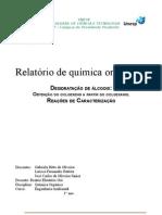 relatório de química orgânica (desidratação dos álcoois)