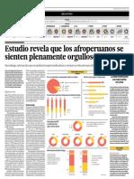 Estudio revela que los afroperuanos se sienten plenamente orgullosos - GRADE - El Comercio - 050414