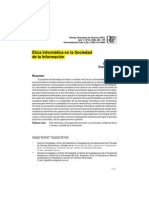 Ética Informática en La Sociedad de Información
