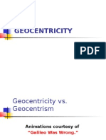 Geocentrism and Geocentricity