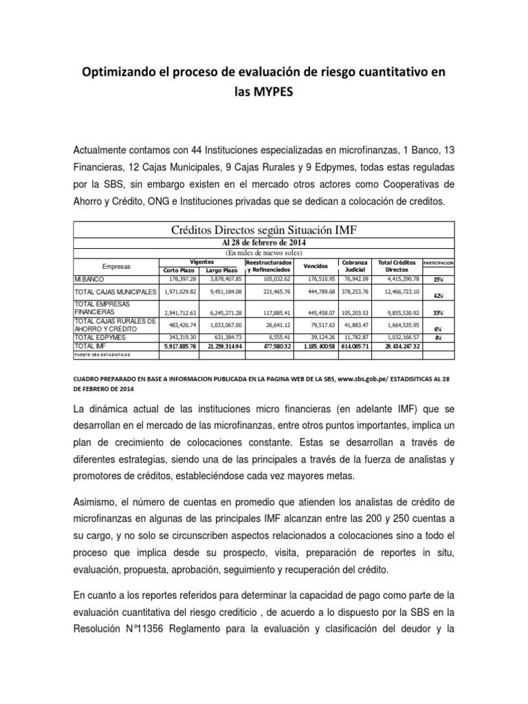 Optimizando El Proceso de Evaluacion de Riesgo Cuantitativo en Las ...