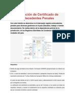 Obtención de Certificado de Antecedentes Penales