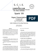 Paper Presentation Proceeding Manuscript Format