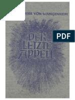 Wangenheim, Hans Ulrich Freiherr Von - Der Letzte Appell (1943, 78 S., Scan)