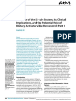 A Review of the Sirtuin System, Its Clinical Implications, And the Potential Role or Dieary Activators Like Resveratrol Partea 1