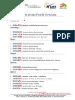 Lista de Aeropuertos de Venezuela 2