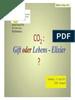 CO2 Gift oder Lebenselixier