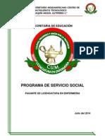 Carpeta de Servicio Social Licenciatura