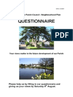 Neighbourhood Plan - Questionnaire