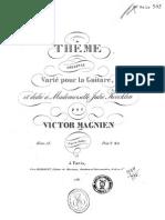 Magnien, V._ Op. 28. Thême Original ...