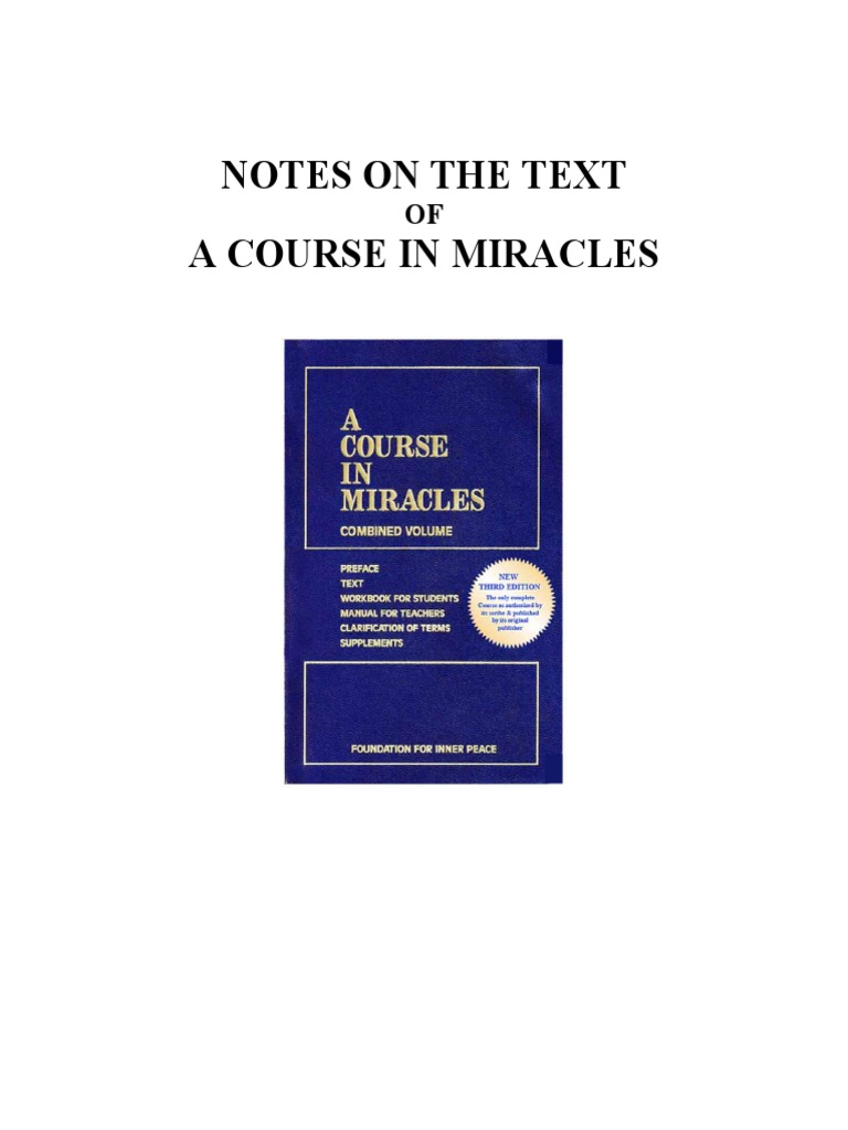 Stephen Wingate - Notes on the Text of a Course in Miracles   Time ...