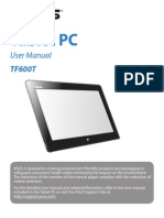 ASUS TF600T Tablet Manual