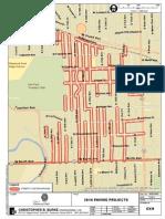 Elmwood Park street resurfacing map
