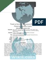 WikiLEaks Secret Tisa Financial Annex