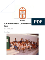 ICCRO Leaders' Conference 1984