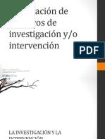 Cómo Plantear Objetivos de Investigación o Intervención