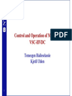 Control and Operation of Multi Termina Vsc Hvdc