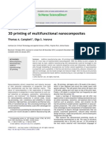 3d Printing of Multifunctional Nanocomposites