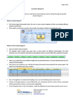 Custom Report Creation
