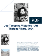 Joe Tacopina Victories - Art Theft at Rikers, 2004