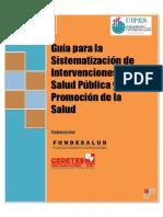 Guia Para La Sistematizacion de Intervenciones en Salud Publica y Promocion de La Salud
