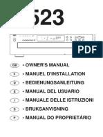 523 CD Changer - Seven Language Manual