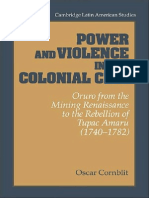 Óscar Conblit - Power and Violence in the Colonial City