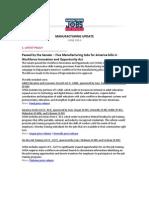 Manufacturing Jobs for America Update - June 2014